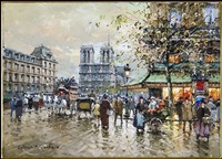 place st. michel & notre dame by antoine blanchard