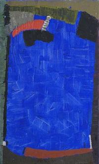 komposition mit blau by max ackermann