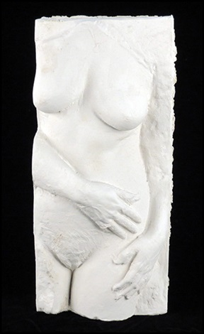 untitled nude with necklace by george segal