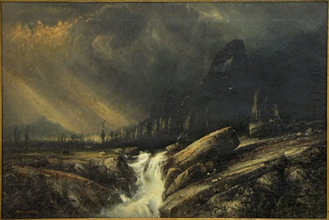 mountain river landscape by henry alkins