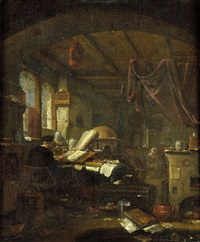 der alchemist in seinem studierzimmer by thomas wijck