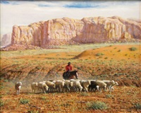herding the sheep by jim abeita