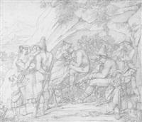 briganten mit ihren familien nach dem raubzug in den bergen by dietrich wilhelm lindau