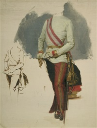 reiterbildnis von kaiser franz joseph i (study) by franz and albrecht adam