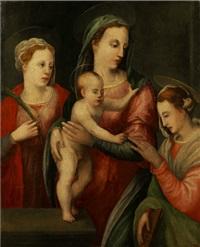maria mit dem kind und zwei weiblichen heiligen by anonymous-italian-tuscan (16)