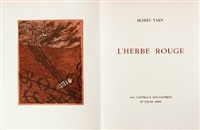 l'herbe rouge (bk by boris vian w/13 works) by lars bo