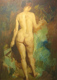 standing nude by william frederick foster