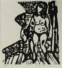 de dood en het meisje (portfolio of 20 w/text) by aad de haas