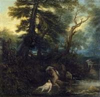 landschaft mit badenden nymphen by jan lievens