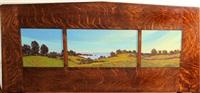 coastal view with poppies by jesse don rasberry