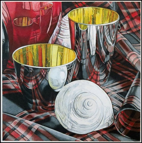 two cups with shells by jeanette pasin sloan