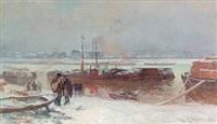 le quai de bercy pendant la neige by auguste louis lepère
