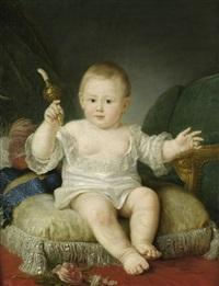 großherzog alexander pavlovitch i., späterer zar alexander i., als kleinkind by jean voilles