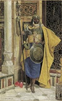 der nubische palastwächter by ludwig deutsch