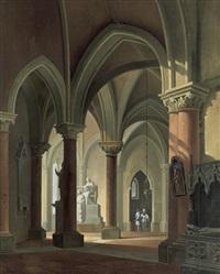 das innere eines gotischen kirchenraums by antonio de pian