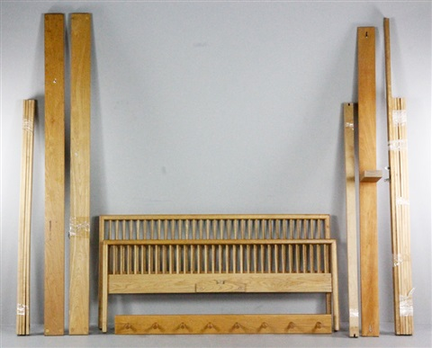 Queen Size Bedframe Eight Hook Linear Coat Rack 2 Works By Charles Webb  Furniture