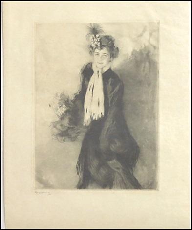 portrait de mademoiselle lb by edgar chahine
