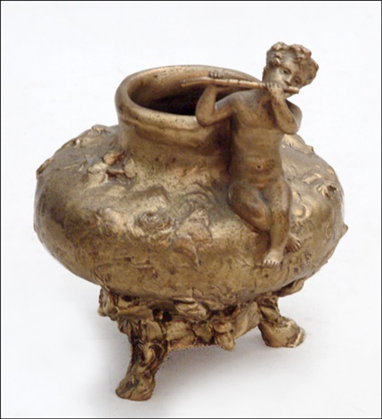 figural bowl by jules meliodon