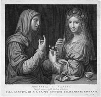 modestia e vanitá (after leonardo da vinci) by angelo campanella