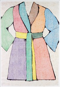 the woodcut bathrobe (self-portrait) by jim dine