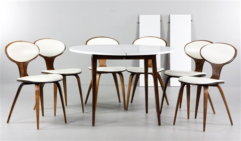 Dining Chairs Set Of Works With Dining Table Works In Total By - Cherner dining table