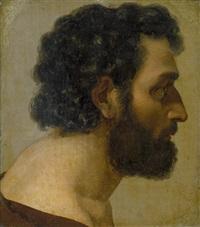 porträt eines bärtigen mannes im profil by niels peter holbech