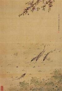 桃花游鱼 by ma quan