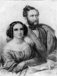 bildnis des malers wilhelm hensel mit seiner gattin fanny by eduard ratti