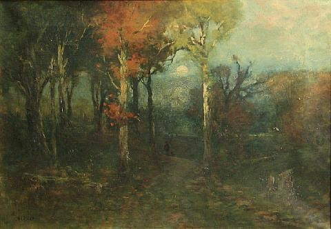 a figure on a moonlit path by edward loyal field