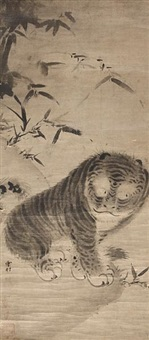 tiger and bamboo by japanese school-muromachi (16)