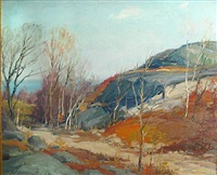 autumn landscape by george a. renouard