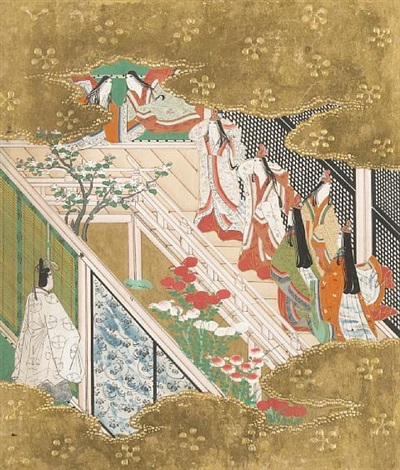 the tale of genji album w 12 works and text by japanese school tosa 18
