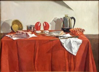 still life with lobster claws by jane fisher