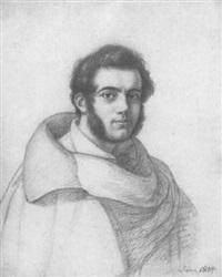 bildnis eines römischen schauspielers im cape by adolf (carl) senff