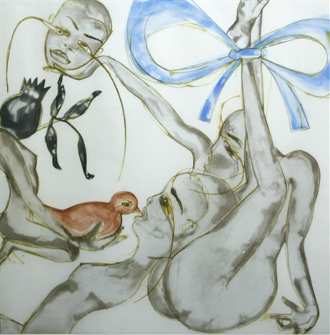 yellow red or blue by francesco clemente