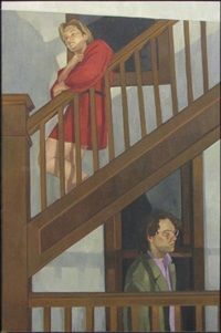 waiting on the stairs by jane fisher