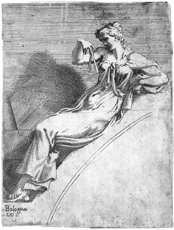 die göttin erato by leonard thiry