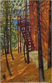 stairway, lake arrowhead by nikolai vladimirovich remizov