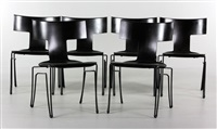 chairs (set of 6 works) by john hutton