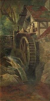 an old mill near sheffield, england by edwin deakin