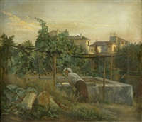 italienisches mädchen am brunnen by eduard robert bary