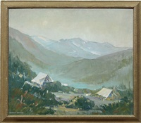 camp at mountain base by herbert jackson