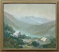 camp at mountain base by herbert jackson