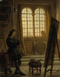 raphael in seinem atelier in florenz by adolf henning