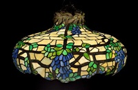 wisteria chandelier by bent glass novelty company (co.)