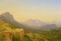 blick auf die mammellen mit rocca santo stefano by carl morgenstern
