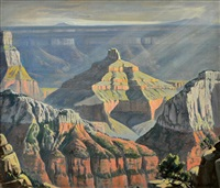 wotan's throne, north rim, grand canyon by robert clunie