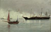 die ankunft des zaren alexander iii. von russland im hafen von kopenhagen im jahre 1866 by carl ludvig thilson locher