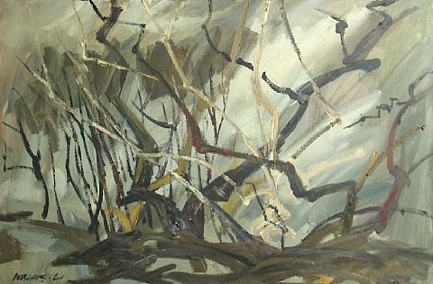 untitled trees and branches by arnold mesches