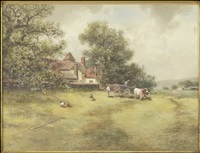 a country scene by frank f. english
